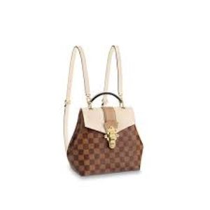 Louis Vuitton Clapton backpack beige and brown
